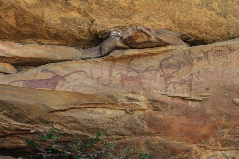 Ancient Rock Painting, by Carol Mitchell