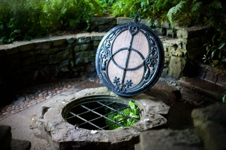"""Glastonbury, Chalice Well,"" by The Mask and Mirror"