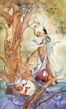 """Queen of Wands,"" by Stephanie Pui-Mun Law © 2010"