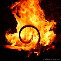 blacksmith: spiral on fire