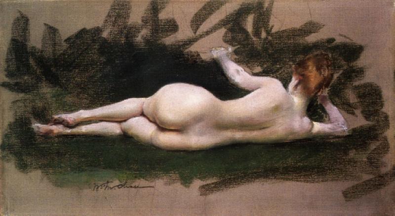 reclining_nude_1888_William Merritt Chase