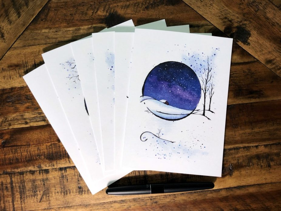 Snow Globe Starscape: Holiday Cards For Sale!